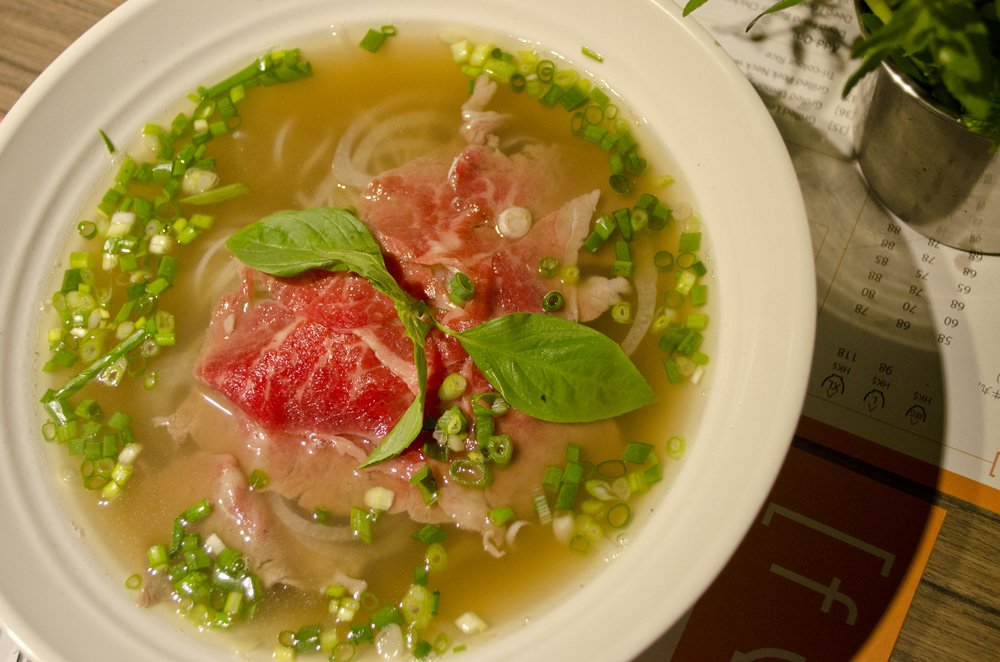 Fuhn Restaurant's special beef pho. humidwithachanceoffishballs.com