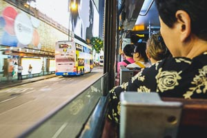 Riding the Hong Kong Island trams